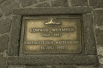 Plaque honoring Edward Whymper, Matterhorn first ascender, Zermatt, Switzerland