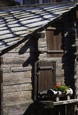 Historic buildings survive the centuries in Zermatt. Switzerland