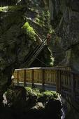 Exploring the gorge of Gornerschlucht, Zermatt, Switzerland