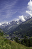 Overview of Zermatt, Switzerland