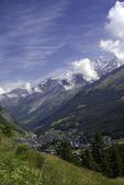 Overview of Zermatt, Switzerland