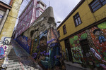 Fabulous public murals are everywhere in Valparaiso, Chile