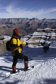 Snowshoeing on the South Rim, Grand Canyon National Park, Arizona