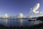 Sunrise rainbow at Trunk Bay, US Virgin Islands National Park, St. John, US Virgin Islands