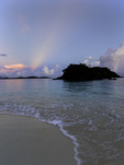 Sunrise over Trunk Bay, US Virgin Islands National Park, St. John, US Virgin Islands
