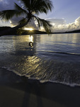 Sunset over Oppenheimer Beach, US Virgin Islands National Park, St. John, US Virgin Islands