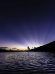 Sunrise beams over Salt Pond, US Virgin Islands National Park, St. John, US Virgin Islands
