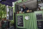 Greek cuisine at the Little Olive Food Truck in Cruz Bay, St. John, US Virgin Islands