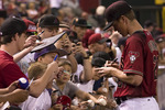 Arizona Diamondbacks pitcher Zack Greinke signs autographs at Chase Field, Phoenix, Arizona
