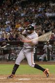 Brandon Belt swings away at Chase Field, Phoenix, Arizona