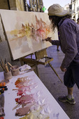 Painting the historic architecture of Salamanca, Spain