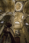 Interior and ceiling in Cathedral Nueva, Salamanca, Spain