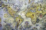 World map, Lisbon, Portugal