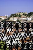 Vista of the skyline of Lisbon, Portugal