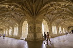 Baroque architectural detail adorns the Jeronimo Monastery, Lisbon, Portugal