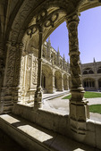 Baroque architectural detail abounds in the Jeronimo Monastery, Lisbon, Portugal