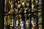 Stained glass architectural detail abounds in the Jeronimo Monastery, Lisbon, Portugal
