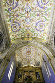 Ornate decoration in the Chapel of San Miguel, University of Coimbra, Portugal