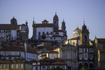 Historic architecture of downtown Porto, Portugal