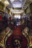 The world-famous library of Livraria Lello e Irmao, in Porto, Portugal