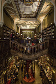 The world-famous library of Livraria Lello e Irmao, in Porto, Portugal