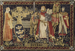 King Arthur, as wall hanging art, on display at the Alpendurada Monastery, near Betitos, Rio Douro, Portugal