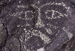 Face in stone, Three Rivers Petroglyph Site, New Mexico
