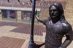 Glenn Frey is honored at Standing-On-A-Corner Park on Route 66 in Winslow, Arizona