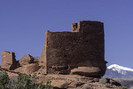 Wukoki Ruin and San Francisco Peaks, Wupatki National Monument, Arizona