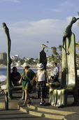 The Roundabout of the Sea by Alejandro Colunga, statuary art on the famous Malecon, Puerto Vallarta, Mexico