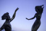 Triton and Mermaid by Carlos Espino, statuary art on the famous Malecon, Puerto Vallarta, Mexico