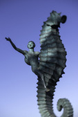 """The Boy on the Seahorse"", Rafael Zamarripa Castañeda, statuary art on the famous Malecon, Puerto Vallarta, Mexico"