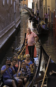 A gondola ride through Venice, Italy