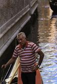 A gondolier of Venice, Italy