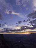 June sunset over Hance Rapid from Lipan Point, Grand Canyon National Park, Arizona