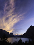 Sunset over Wild Goose Island, Glacier National Park, Montana