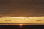 Sunset over the Atlantic Ocean off the north shore of Iceland