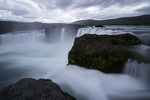 Godafoss waterfall in summer, Iceland