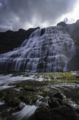 Dynjandi waterfall in summer, Iceland