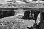 Selfoss waterfall in summer, Iceland