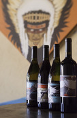 'Theme' named wines at Fire Mountain tasting room, Old Town, Cottonwood, Verde Valley Wine Trail, Arizona