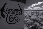 Route 66 icon, Two Guns, Arizona