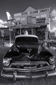 50's police cruiser, Route 66, Seligman, Arizona