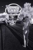 Route 66 tourists, Seligman, Arizona