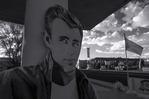 James Dean gazes on in Seligman, Route 66, Hackberry, Arizona