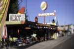 Burger sign atop the Snowcap Drive-in, Seligman, Route 66, Hackberry, Arizona