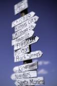Route 66 signpost, Truxton, Arizona