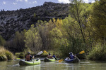 Kayaking the Verde River in autumn, on the 'Water To Wine' tour, Verde Valley, Arizona