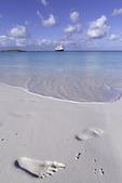 Enjoying the beach in Half Moon Cay, Nieuw Amsterdam, Bahamas