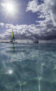 Sailing off Half Moon Cay, Nieuw Amsterdam, Bahamas